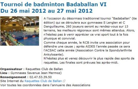 article de l'asso de badr